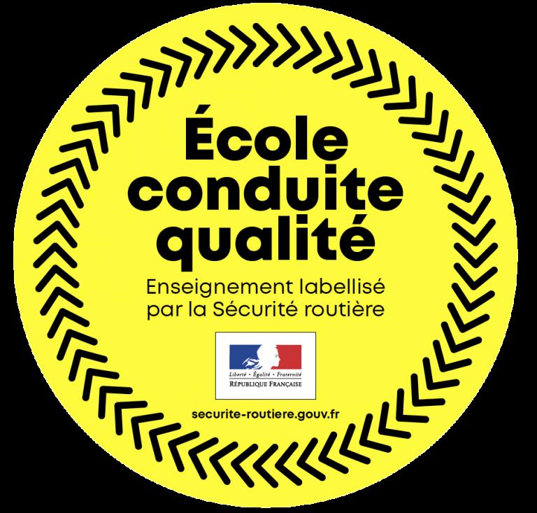 Lexo Auto-école est labellisée par la Sécurité Routière, au titre d'école conduite qualité